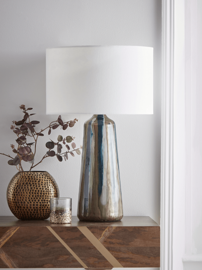 NEW Enamelled Glass Table Lamp