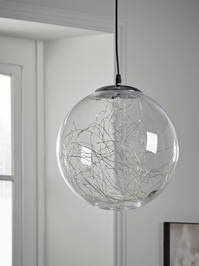 NEW Indoor Outdoor Silver Wire Light Pendant - Large