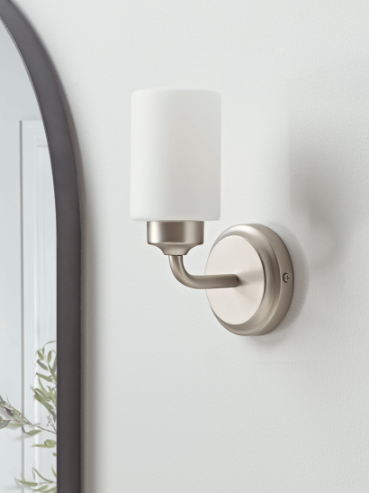 NEW Frosted Glass Bathroom Wall Light
