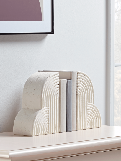 NEW Geometric Arch Bookends