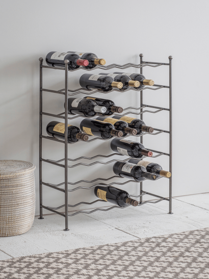 Raw Steel Wine Rack
