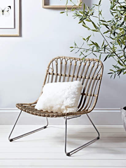 Low Round Rattan Chair