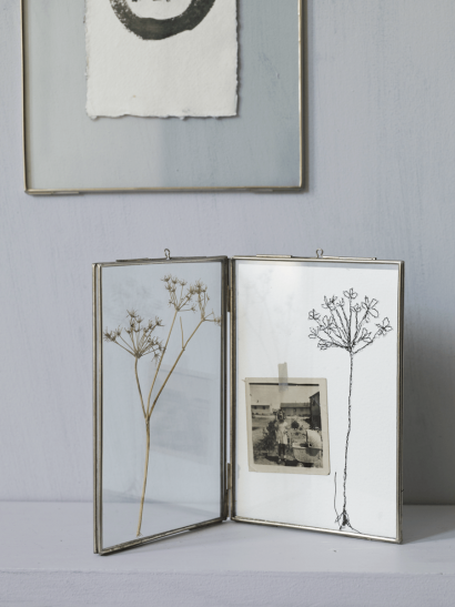 Hinged Glass Frame - Silver
