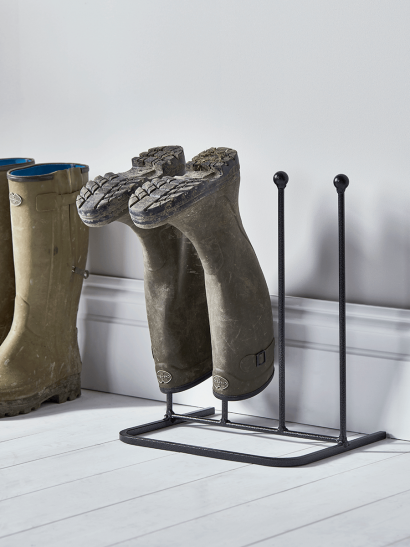 Two Pair Metal Boot Rack