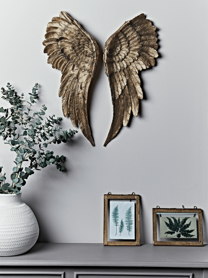 Antique Gold Angel Wings