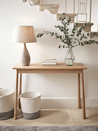 Bergen Oak Console Table - Natural
