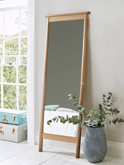 Bergen Oak Full Length Mirror