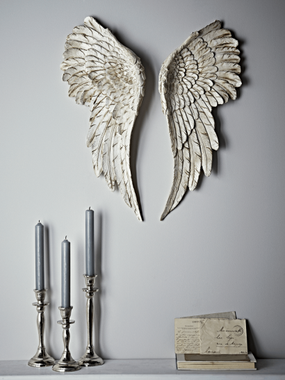 Antique White Angel Wings