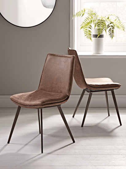 Two Williamsburg Dining Chairs - Tan