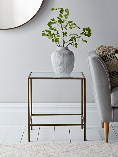 Villette Side Table - Burnished Brass