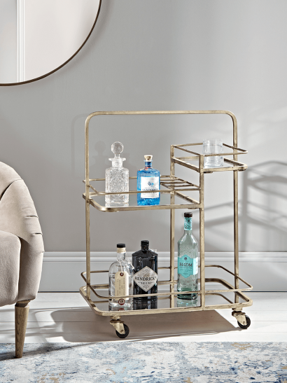 Brass Cocktail Trolley