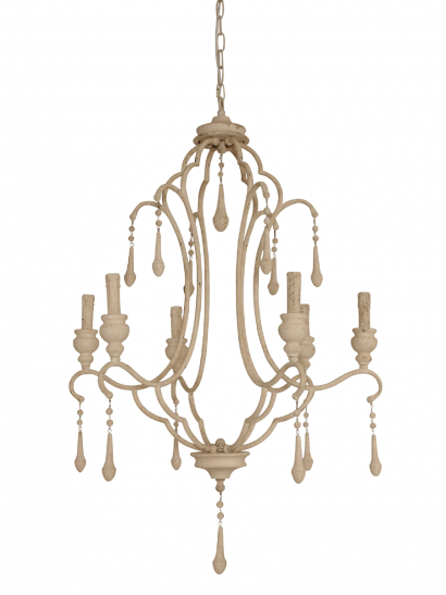 Grand Antique White Chandelier