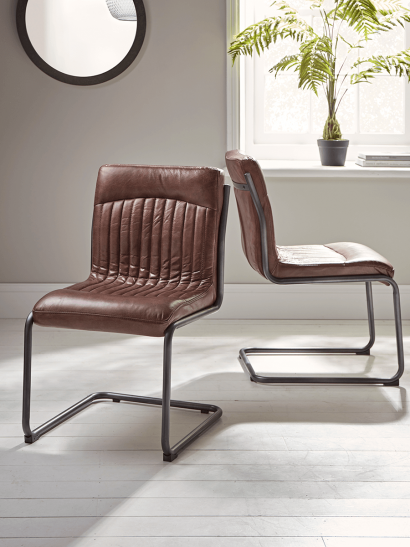 Ford Leather Dining Chair - Tan