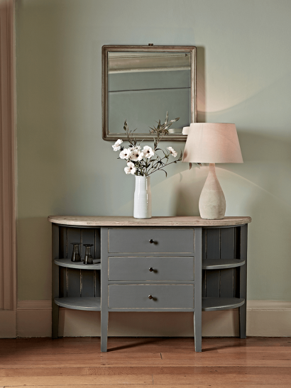 Rounded Storage Console Table