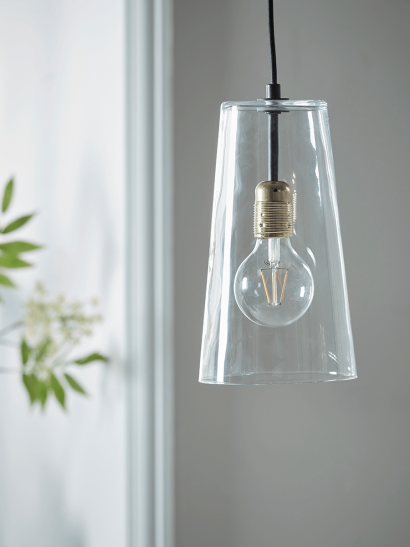 Tapered Glass Pendant