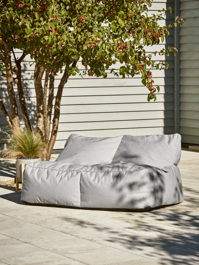 Indoor Outdoor Double Beanbag - Grey
