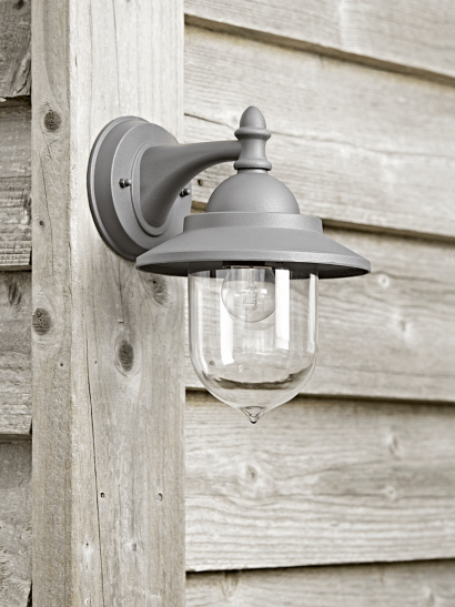 Outdoor Wall Lantern - Charcoal