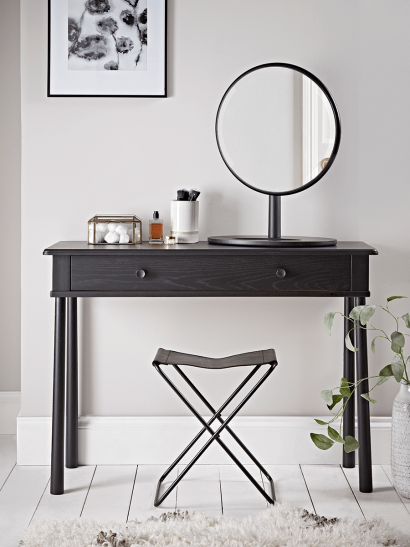 Bergen Oak Dressing Table - Black