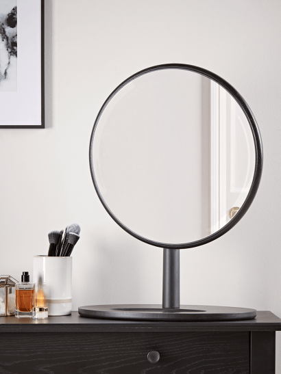 Bergen Oak Dressing Table Mirror - Black