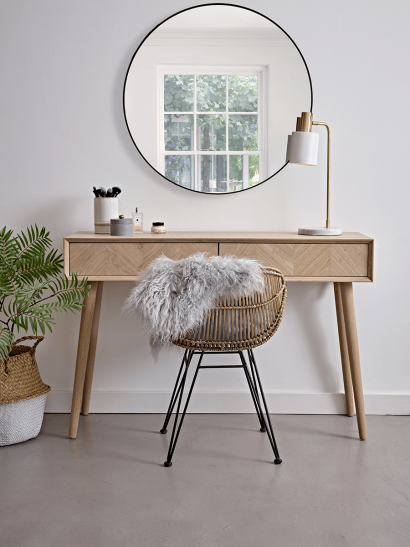 Chevron Oak Dressing Table