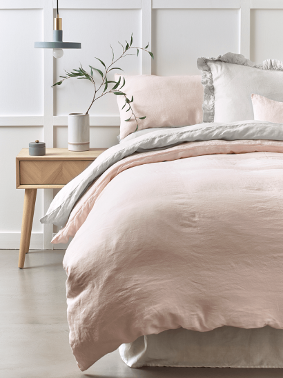 Washed Linen Bedding - Soft Blush