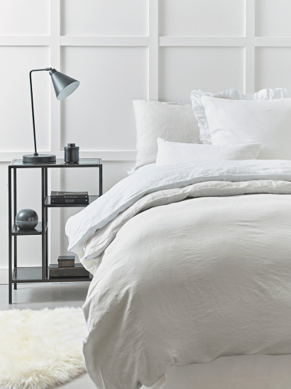 Washed Linen Bedding - Soft Grey
