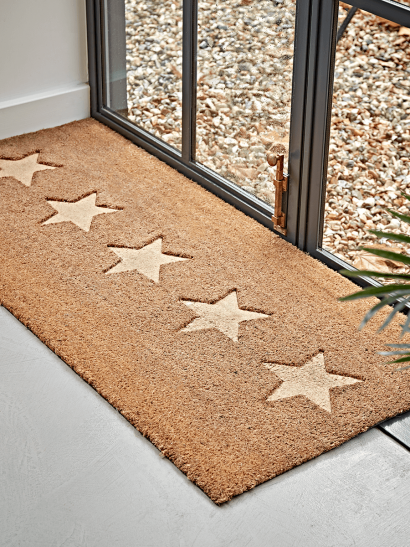 Embossed Stars Doormat - Double