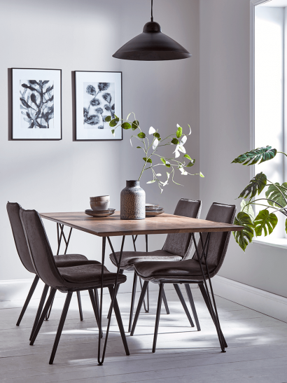 Frame Hairpin Dining Table