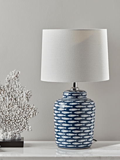 Blue Fish Table Lamp