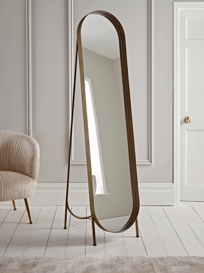 Brushed Gold Full Length Mirror