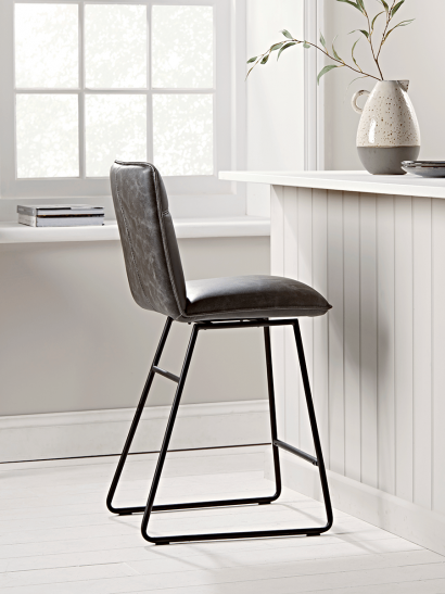 Alden Twist Counter Stool - Grey