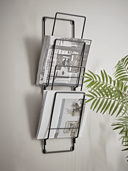 Industrial Wall Magazine Rack