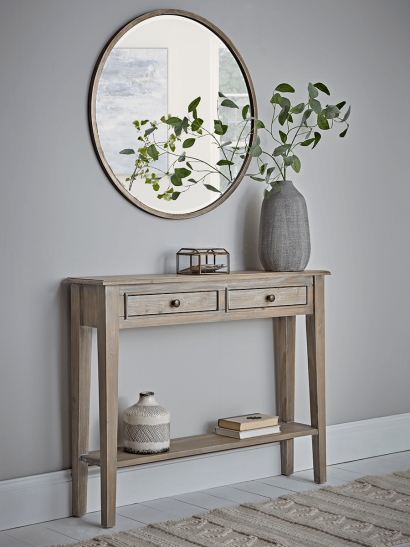 Camille Console Table - Limewashed