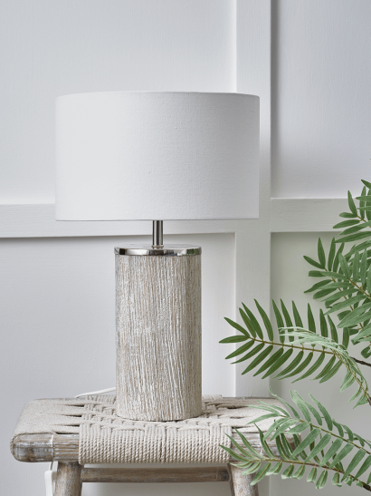 Limewashed Wooden Table Lamp