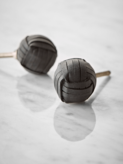 Leather Knob - Black
