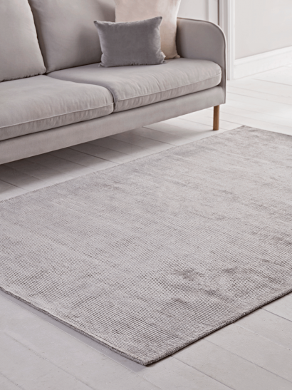 Lustre Striped Rug - Silver
