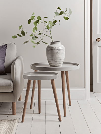 Mila Side Tables - Grey