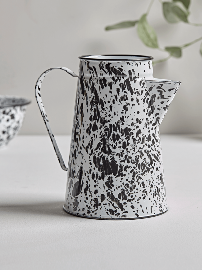 Monochrome Spattered Jug