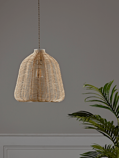 Natural Chevron Rattan Shade