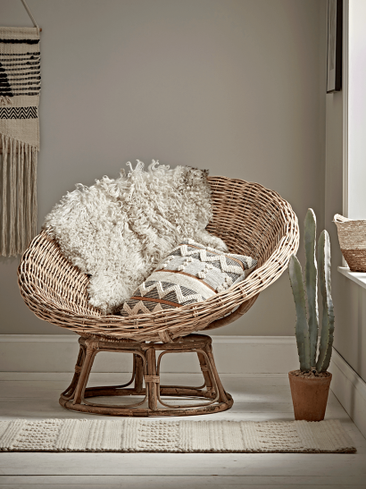 Round Rattan Papasan Chair