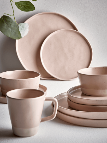 Six Speckled Side Plates - Blush