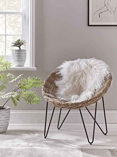 Round Rattan Cone Chair