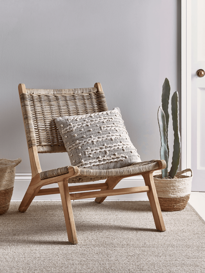 Lounge Chair - Round Rattan