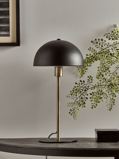 Black & Brass Rounded Desk Lamp