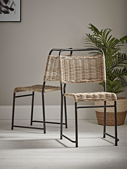 Round Rattan Stacking Chair