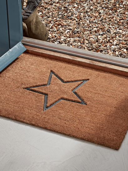 Embossed Rubber Star Doormat - Extra Large
