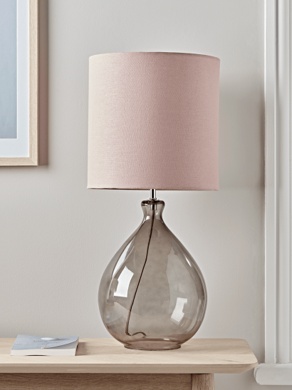 Sanna Smoke & Blush Table Lamp