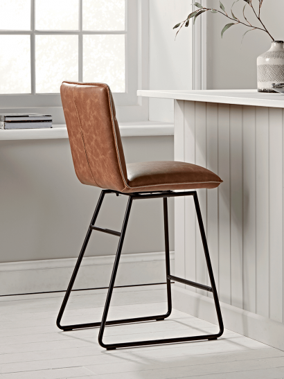 Alden Twist Counter Stool - Tan