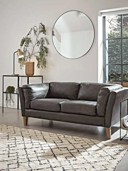 Tetbury Leather Sofa - Black
