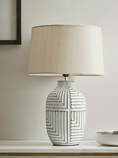 Textured Abstract Table Lamp